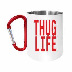 """Кружка с ручкой """"карабин"""" thug life"""