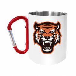 Кружка з ручкою-карабіном Tiger