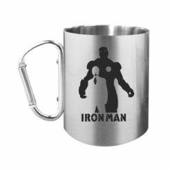 """Кружка с ручкой """"карабин"""" Tony iron man"""