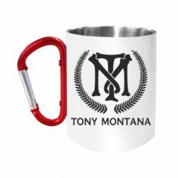 Кружка з ручкою-карабіном Tony Montana Logo