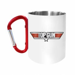 Кружка з ручкою-карабіном Top Gun Logo