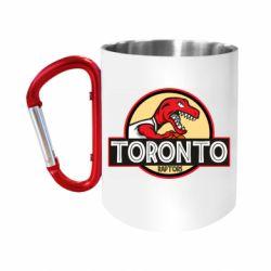 """Кружка с ручкой """"карабин"""" Toronto raptors park"""