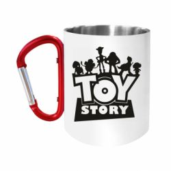 """Кружка с ручкой """"карабин"""" Toy Story and heroes"""