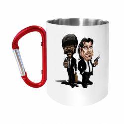 """Кружка с ручкой """"карабин"""" Travolta & L Jackson"""