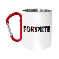 "Кружка с ручкой ""карабин"" Trellis in Fortnite logo"