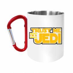 """Кружка с ручкой """"карабин"""" Trust me, I'm a Jedi"""