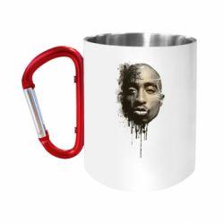 "Кружка с ручкой ""карабин"" Tupac Shakur"