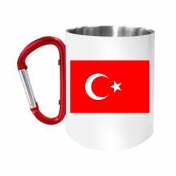 """Кружка с ручкой """"карабин"""" Турция"""