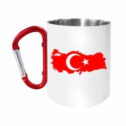 """Кружка с ручкой """"карабин"""" Turkey"""