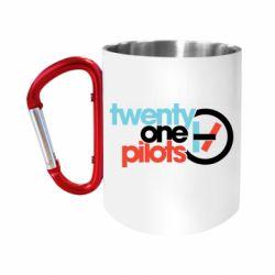Кружка з ручкою-карабіном Twenty One Pilots Logo