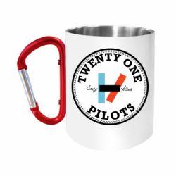 Кружка з ручкою-карабіном Twenty One Pilots Stay Alive