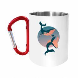 Кружка з ручкою-карабіном Two whales