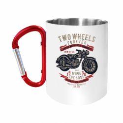 Кружка з ручкою-карабіном Two Wheels Forever 1930