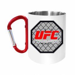 """Кружка с ручкой """"карабин"""" UFC Cage"""