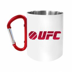 """Кружка с ручкой """"карабин"""" UFC Main Logo"""
