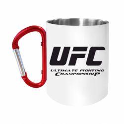 """Кружка с ручкой """"карабин"""" UFC"""