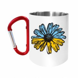 Кружка з ручкою-карабіном Українська квітка