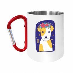Кружка з ручкою-карабіном Український пес