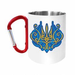 Кружка з ручкою-карабіном Український тризуб монограма