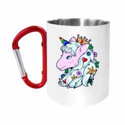 Кружка з ручкою-карабіном Unicorn Princess
