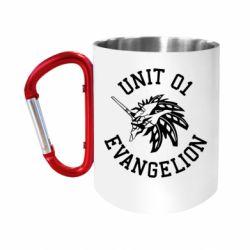 Кружка з ручкою-карабіном Unit 01 evangelion