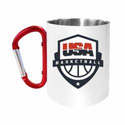 """Кружка с ручкой """"карабин"""" USA basketball"""