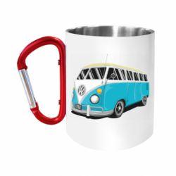 "Кружка с ручкой ""карабин"" Vector Volkswagen Bus"