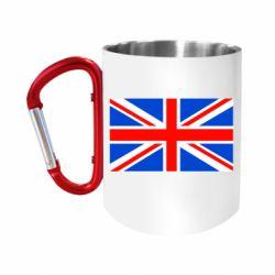 """Кружка с ручкой """"карабин"""" Великобритания"""