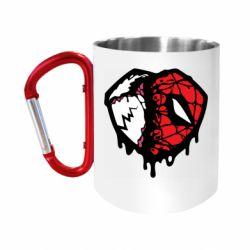 Кружка з ручкою-карабіном Venom and spiderman