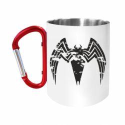 Кружка з ручкою-карабіном Venom Spider