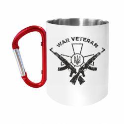Кружка з ручкою-карабіном Veteran machine gun