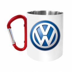 Кружка з ручкою-карабіном Volkswagen 3D Logo