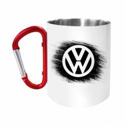 Кружка з ручкою-карабіном Volkswagen art