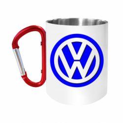 Кружка з ручкою-карабіном Логотип Volkswagen