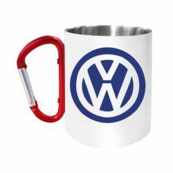 """Кружка с ручкой """"карабин"""" Volkswagen"""