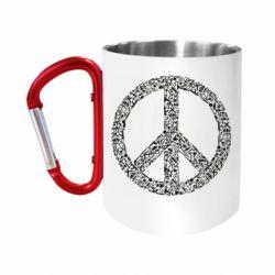Кружка з ручкою-карабіном War Peace