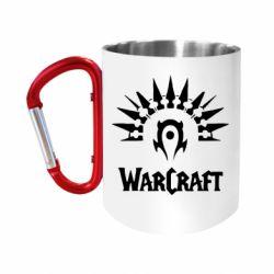 """Кружка с ручкой """"карабин"""" WarCraft Logo"""