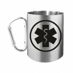 Кружка з ручкою-карабіном Warface: medic