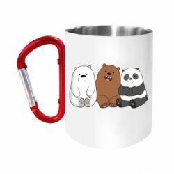 "Кружка с ручкой ""карабин"" We are ordinary bears"