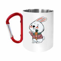 Кружка з ручкою-карабіном Winter bunny