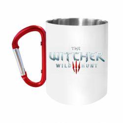 """Кружка с ручкой """"карабин"""" Witcher Logo"""