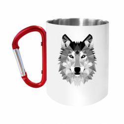 Кружка з ручкою-карабіном Wolf Art