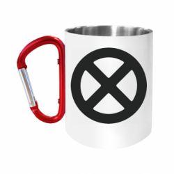 Кружка з ручкою-карабіном X-man logo