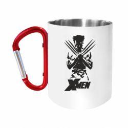 Кружка з ручкою-карабіном X men: Logan