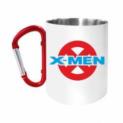 """Кружка с ручкой """"карабин"""" X-men"""