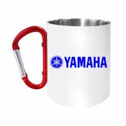 """Кружка с ручкой """"карабин"""" Yamaha Logo"""