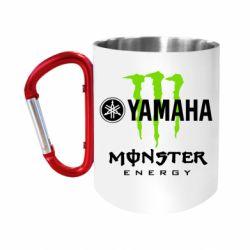 Кружка з ручкою-карабіном Yamaha Monster Energy