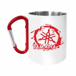 """Кружка с ручкой """"карабин"""" Yamaha Moto"""