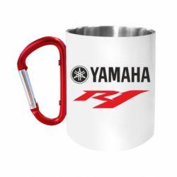 """Кружка с ручкой """"карабин"""" Yamaha R1"""