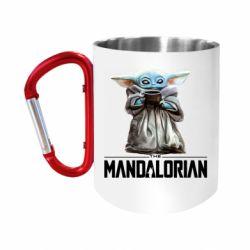 "Кружка с ручкой ""карабин"" Yoda with a cup"